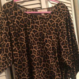 Michael Kors leopard top size 1x
